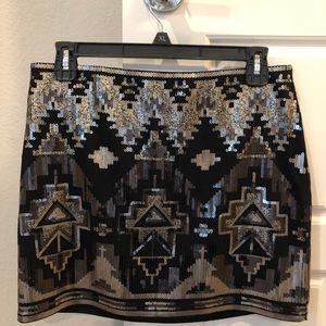 Express Skirts - Express Mini Sequin skirt